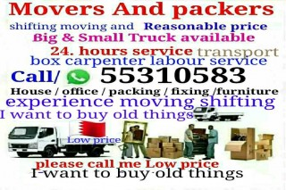 All moving and shifting works at Best price. Please call 55310583