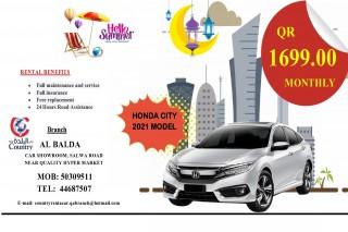 2021 model Honda city For Rent