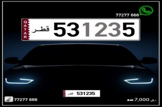 531235 Special Registered  CAR PLATE FOR SALE