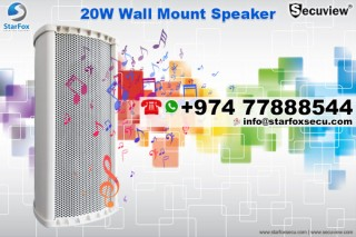 20W Wall mount speaker available here!